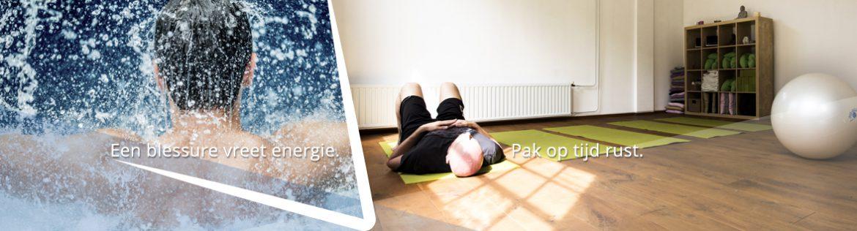 Een blessure vreet energie. Theo Tijs Fysotherapie Breda.
